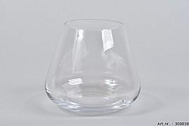GLASS VASE GERBERA HEAVY COLDCUT 14X12CM