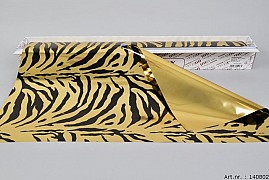 FOIL CUTTING BOX ZEBRA GOLD 60CM A 50 METERS