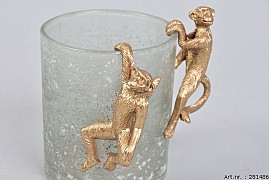 HANGING MONKEY 4X3X7CM GOLD AASSORTED A PIECE