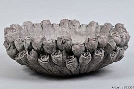 LA ROSE CONCRETE BOWL 34X12CM