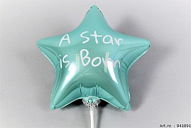 BALLON STAR IS BORN L.BLAUW 27X25CM P/1