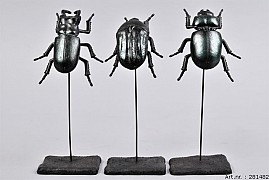DECO INSECT ON FOOT PETROL ASSORTED A PIECE 9X7X21CM