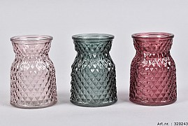 DIAMOND BERRY MIX GLASS 8X11CM ASSORTED A PIECE