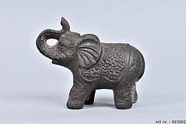 PHUKET ELEPHANT DARK STONE 10X20X17CM