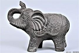 PHUKET ELEPHANT DARK STONE 17X35X28CM