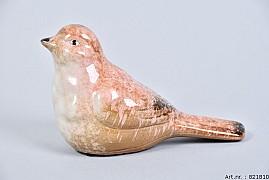 BIRD GLAZE LIGHT PINK 16X7X10CM