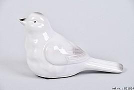 BIRD GLAZE WHITE 16X7X10CM