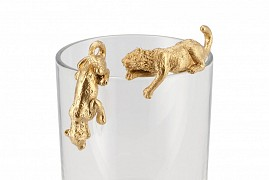 DECO HANGING TIGER GOLD 7X2X3CM+6X2X2CM ASSORTED A PIECE