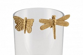 DECO HANGING BUTTERFLY GOLD 4X2X3CM+6X2X4CM ASSORTED A PIECE