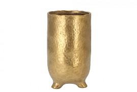 ST. TROPEZ GOLD VASE 10X18CM