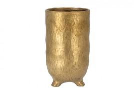 ST. TROPEZ GOLD VASE 12X22CM