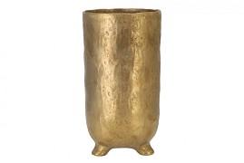 ST. TROPEZ GOLD VASE 14X26CM