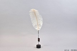 FEATHER OSTRICH ON FOOT CREAM PER 1