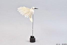 FEATHER HUMMINGBIRD ON FOOT CREAM P/1