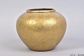 TSJITA GOLD VASE 25X20CM