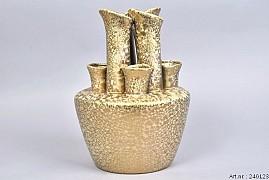 TUBA VASE GOLD 22X22X30CM
