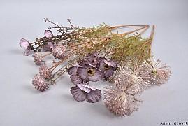 DRY SILK WILD FLOWERS PURPLE 58CM ASS PER 1