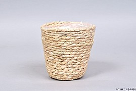 PANIER EN POT NATUREL SEA GRASS STRAW 14X14CM