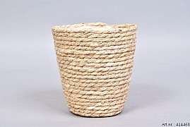 PANIER EN POT NATUREL SEA GRASS STRAW 18X18CM