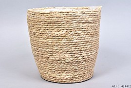 SEAGRASS STRAW NATURAL POT BASKET 28X28CM