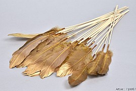 FEATHERS MUSTARD/GOLD OP STOK 30CM P/24