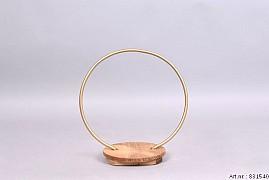 METAL CIRCLE GOLD MET PLATEAU 29X17X30CM