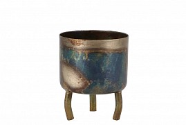 DOBRA OLD GREEN POT METAL 6X8CM