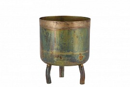 DOBRA OLD GREEN POT METAL 10X12CM
