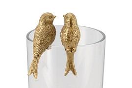 HUMMINGBIRD GOUD ZITTEN ASS P/1 4X3X7CM