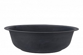 ZINC BOWL MATT BLACK 36X11CM
