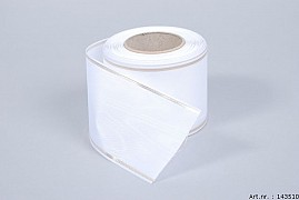 RIBBON MOURNING WHITE WITH GOLDEN EDGE 7.5CM A 25 METER