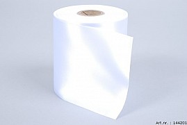 RIBBON MOURNING EXCELLENT WHITE 10CM X 25 METER