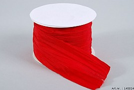 RIBBON PLEATED RED 6CM X 10 METER