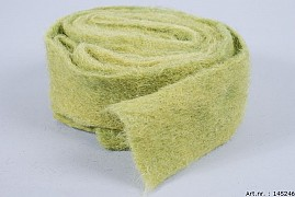 WOOL BAND GRASS GREEN 7CM X 4 METER