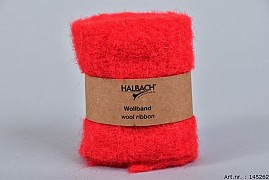 WOOL BAND RED 12CM X 1 METER