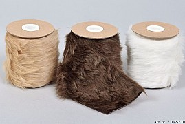 RIBBON FUR LOOK 150CM ASSORTED A PIECE