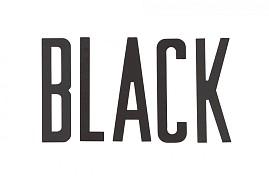 BUCHSTABE GROß SCHWARTZ ALT TYPE 1