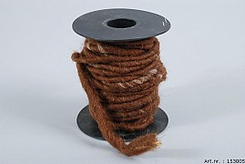 WOOL ROPE RUST BROWN A 10 METER