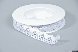 LACE RIBBON WHITE 1.8CM X 5 METER