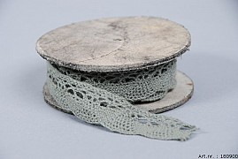 LACE ON ROLE 1.7CM DARK GREEN