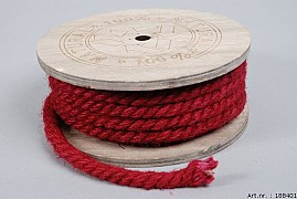 JUTE ROPE RED ROLE 0.8CM A 7 METER