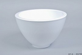 VINCI WHITE BOWL SPHERE SHADED 23X15CM