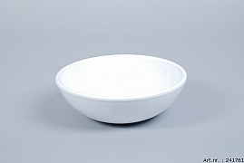 VINCI WHITE BOWL SPHERE SHADED LOW 20X7CM