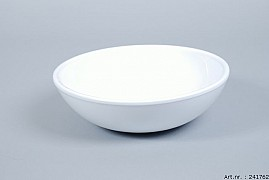 VINCI WHITE BOWL SPHERE SHADED LOW 25X8CM