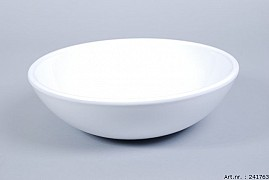 VINCI WHITE BOWL SPHERE SHADED LOW 30X9CM