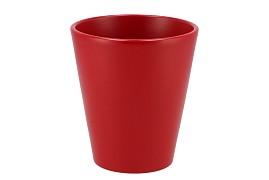 FLOWERPOT RED MATT ORCHID D14XH15CM
