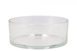 GLASS BOWL CYLINDER HEAVY D19X8CM
