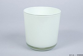 GLASS POT MINT GREEN 13X14CM