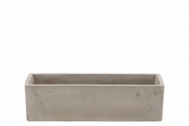 CONCRETE BOWL RECTANGLE 28X9X8CM