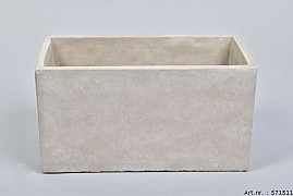 CONCRETE BOWL RECTANGLE 26X13X14CM